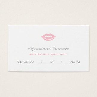 De elegante Roze Benoeming van de Kosmetiek van Visitekaartjes