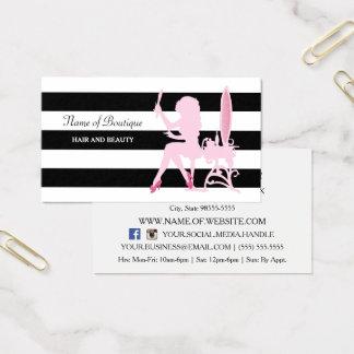 De elegante Roze Boutique van het Haar van de Visitekaartjes
