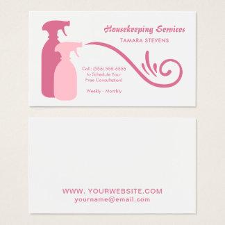 De elegante Roze Diensten van het Huishouden van Visitekaartjes