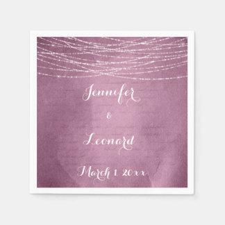 De elegante Roze Servetten van het Huwelijk van Papieren Servetten