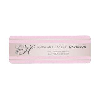 De elegante Roze Strepen doorboren het Geweven Etiket