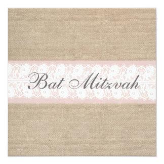 De elegante Roze Uitnodiging van Mitzvah van de