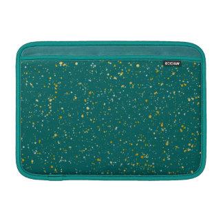 De elegante Ruimte van Confettien - Blauwgroen MacBook Air Beschermhoes