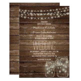 De elegante Rustieke Kaart van het Huwelijk van de