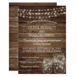 De elegante Rustieke Kaart van het Huwelijk van de 8,9x12,7 Uitnodiging Kaart