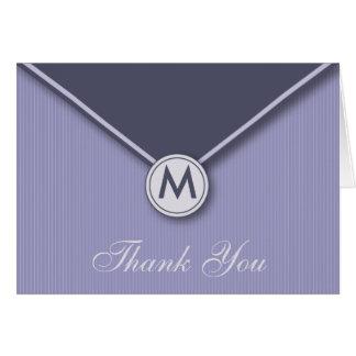 De elegante Sering van het Monogram van de Envelop Kaart