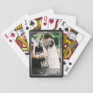 De elegante Sjabloon van de Foto van de Zwarte en Speelkaarten