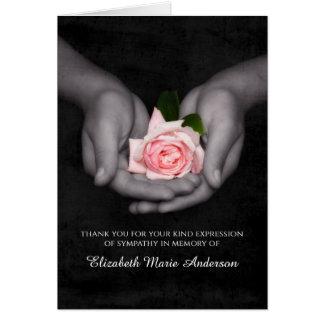 De elegante Sympathie dankt Roze u toenam in Wenskaart