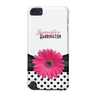 De elegante Trendy Roze Stip van Gerbera Daisy iPod Touch 5G Hoesje
