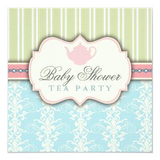De elegante Uitnodiging van de Thee van het Baby