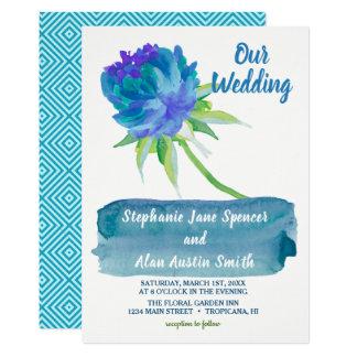 De elegante Uitnodiging van het Huwelijk van de Kaart
