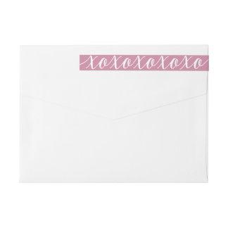 De Elegante Valentijnsdag van de kalligrafie XOXO Omwikkelbaar Retourlabel