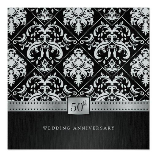 De elegante Verjaardag van het Huwelijk van de Zwa Aankondigingen