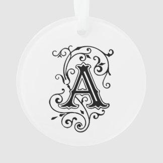 De elegante Victoriaans Brief van de Stijl een Mon Ornament