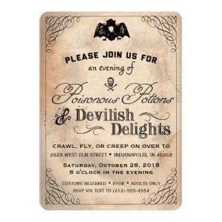 De elegante Vintage Duivelse Verrukkingen van Kaart