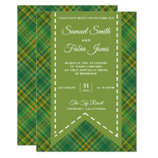 De elegante Vintage Groene Uitnodiging van het