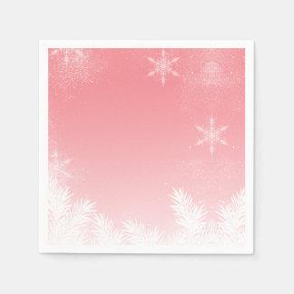 De elegante Winter van de Pijnboom van de Wegwerp Servetten