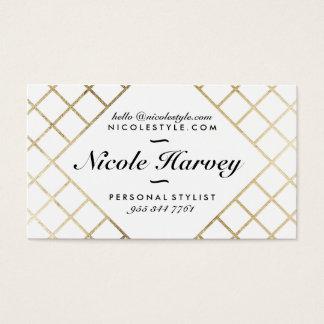 De elegante witte moderne elegante strepen van de visitekaartjes