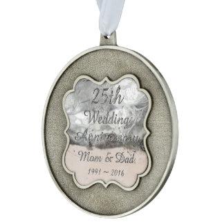de Elegante Zilveren Typografie van het 25ste Geschulpt Ornament