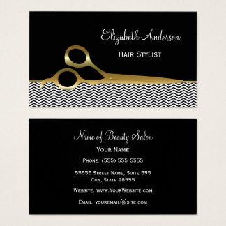 De elegante Zwarte en Gouden Salon van het Haar Visitekaartjes