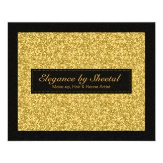 De elegante Zwarte en Gouden Tonen schitteren & Fo Folder