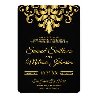De elegante Zwarte en Gouden Uitnodiging van het
