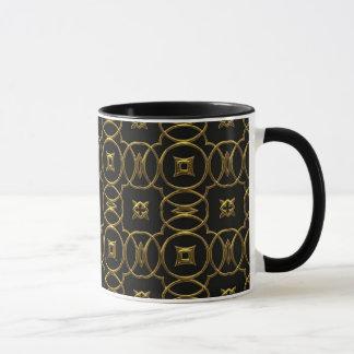 De elegante Zwarte & Gouden Mok van de Koffie van