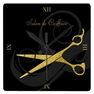 De elegante Zwarte Salon van het Haar van de Vierkante Klok