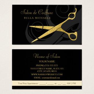 De elegante Zwarte Salon van het Haar van de Visitekaartjes