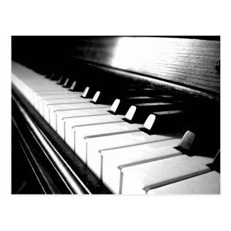 De elegante Zwarte & Witte Fotografie van de Piano Briefkaart