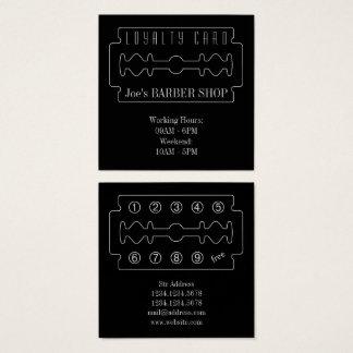 De elegantie van de de loyaliteitskaart van vierkante visitekaartjes
