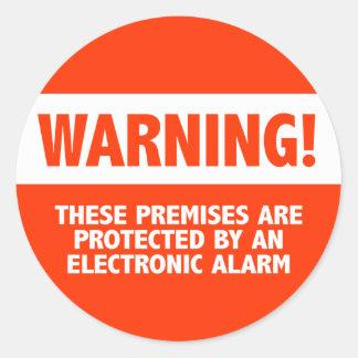 De Elektronische Veiligheid van de Ronde Sticker