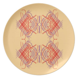 De elementen exotisch Rood Beige van het ontwerp Melamine+bord