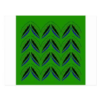 De elementen groene eco van het ontwerp briefkaart