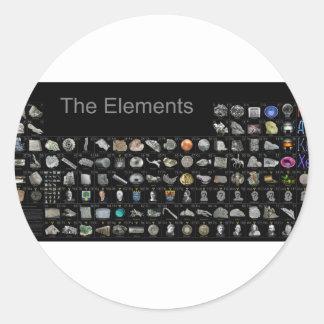 De elementen - Periodieke Lijst Ronde Sticker