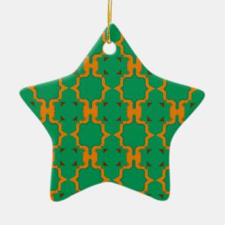 De elementen van het ontwerp, goud, citroen keramisch ster ornament