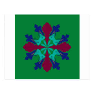 De elementenethno groene Mandala van het ontwerp Briefkaart