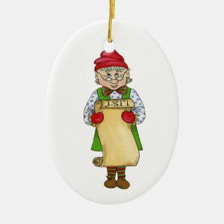 """De Elf """"Alfred """" van het kenwijsje Keramisch Ovaal Ornament"""