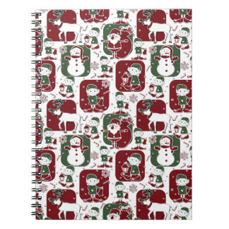 De Elf & de Sneeuwmannen van Kerstmis Ringband Notitieboek