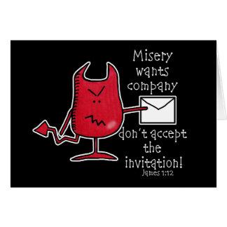 De ellende wil bedrijf-Duivel met Envelop Briefkaarten 0