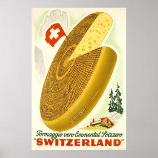 De Emmentaler Svizzero, Zwitserland van vero van Poster