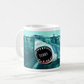 De enge mokken van de de douanenaam van de Haai