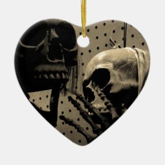 De enge Punten van het Skelet Keramisch Hart Ornament
