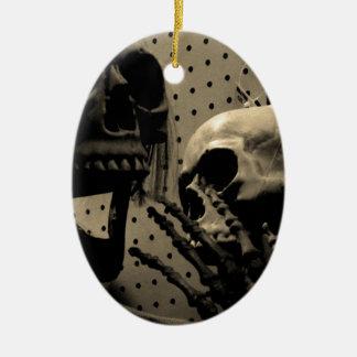 De enge Punten van het Skelet Keramisch Ovaal Ornament