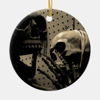 De enge Punten van het Skelet Rond Keramisch Ornament