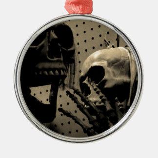 De enge Punten van het Skelet Zilverkleurig Rond Ornament