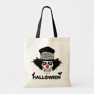 De enge Schedel van de Clown van Halloween Draagtas