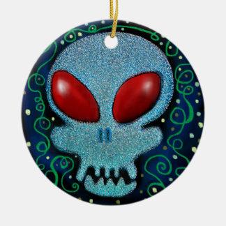 De enge Schedel van de Zondag Rond Keramisch Ornament