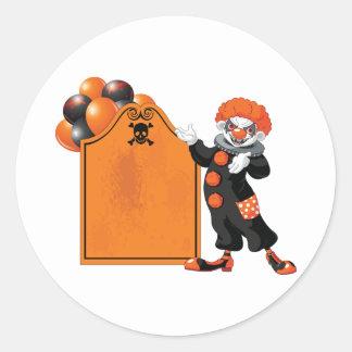 De enge Stickers van de Clown