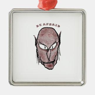De enge Tekening van de Vampier Zilverkleurig Vierkant Ornament